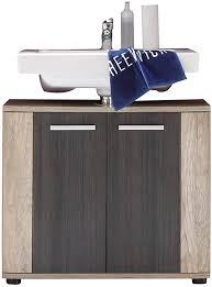 trendteam smart living badezimmer waschbeckenunterschrank unterschrank 70 x 61 x 32 cm in eiche monument nb absetzung touchwood dunkelbraun