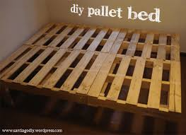 Pallet Bed Frame For Sale by Free Plans To Help Utilize Extra Unused Pallets