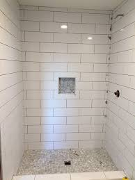 Large Subway Tile With Mosiac Shower Pan And Niche. | House Remodel ... Beautiful Ways To Use Tile In Your Bathroom A Classic White Subway Designed By Our Teenage Son Glass Vintage Subway Tiles 20 Contemporary Bathroom Design Ideas Rilane 9 Bold Designs Hgtvs Decorating Design Blog Hgtv Rhrabatcom Tile Shower Designs Vintage Ideas Creative Decoration Shower For Each And Every Taste 25 Small 69 Master Remodel With 1 Large Mosiac Pan Niche House Remodel Modern Meets Traditional Styled Decorating