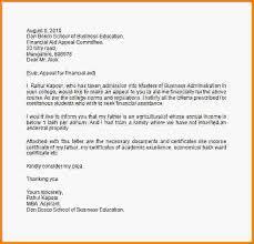 12 financial aid appeal letter sample LetterHead Template Sample