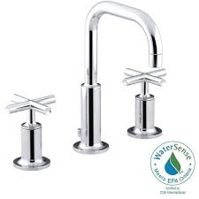 Kohler Bathroom Sink Faucets Widespread by Kohler Purist 8 In Widespread 2 Handle Bathroom Faucet In