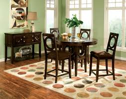 Standard Round Dining Room Table Dimensions by Dining Tables Round Pub Table 9 Piece Counter Height Dining Set