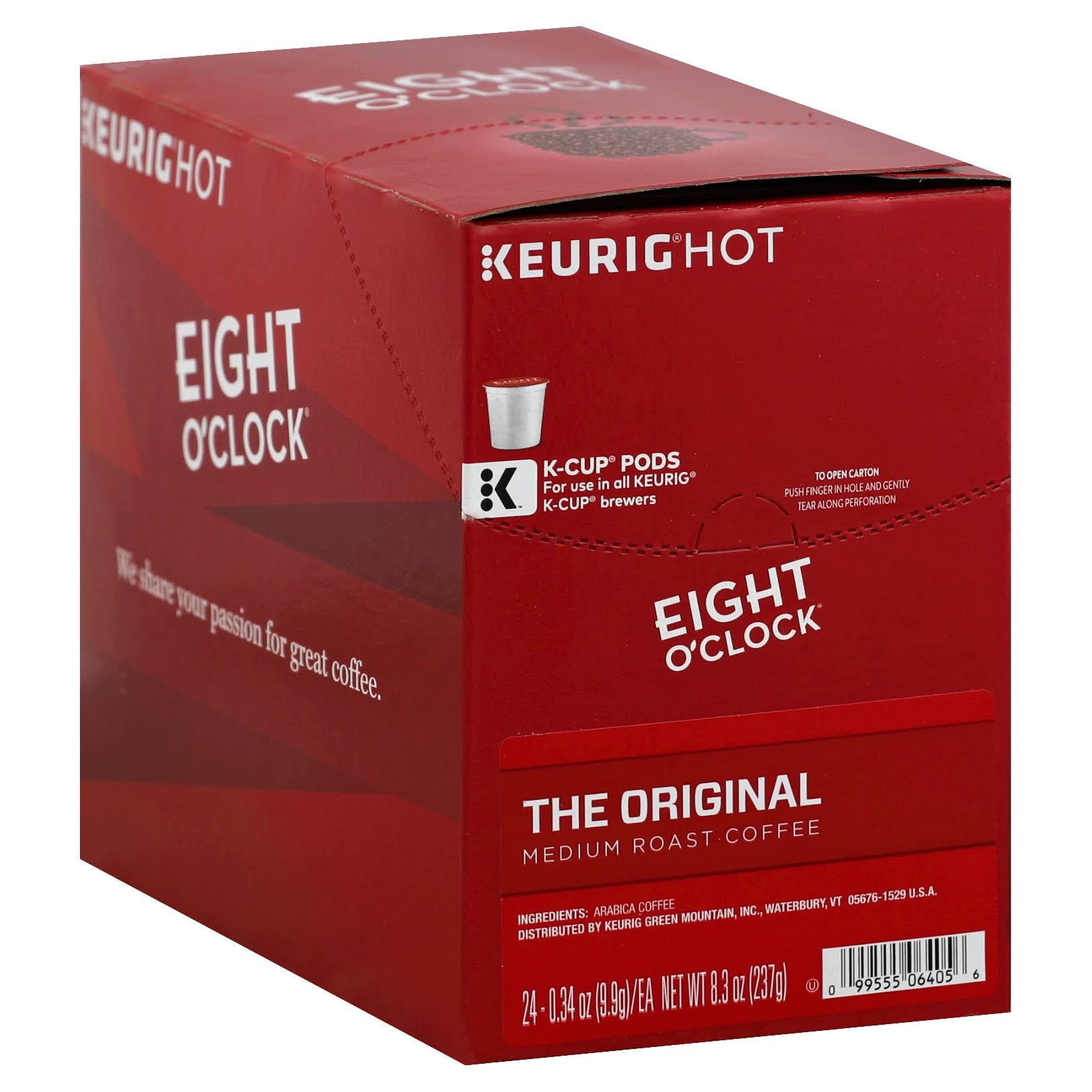 Eight O'clock The Original Coffee - Medium Roast, K Cup Pods, 0.34oz, 24ct