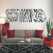 wandtattoo banner tiger afrika savanne wohnzimmer deko flur