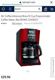 Red Coffee Maker Walmart Advanced Brew Cup Programmable Appliances In Meridian Id Mr Bella