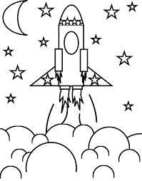 Coloring Pages Printable Rocket Activities For Toddlers Moon Simple Star Cloud Great Popular Personalized Best