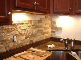 Rustic Backsplash Tile Use Stone For A More Look On Your White Subway