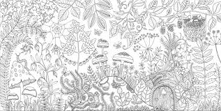 Pin Drawn Forest Colouring 5