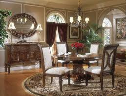Michael Amini Living Room Sets by Amini Villagio Hazelnut Traditional Round Table Dining Room Set By