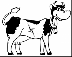 Wonderful Dairy Cow Coloring Pages Pictures Imagixs With Page And For