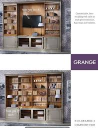 Love this hidden TV idea from Grange Furniture think width is roughly 153