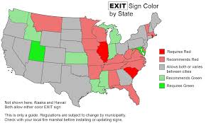 or green don t buy the wrong exit sign 1000bulbs
