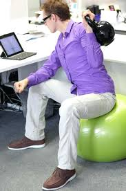 Yoga Ball Desk Chair Size by Ball Chair For Desk Sitting On An Exercise Ball At Work Yields No