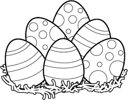Easter Clipart Black and White Easter Bunny & Eggs