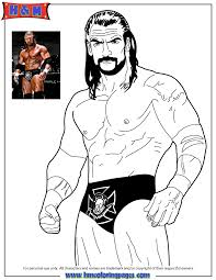 The Rock Coloring Pages 15 Free Printable WWE Wrestling