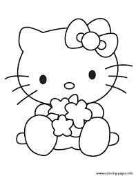 Baby Hello Kitty Playing Toys Coloring Pages