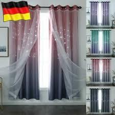 vorhang blickdicht ösen doppelschicht garn tüll gardine