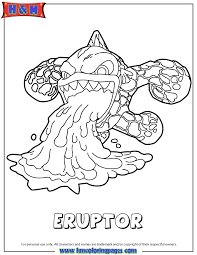 Skylanders Swap Force Fire Eruptor Serie3 Coloring Page