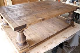 diy restoration hardware inspired coffee table