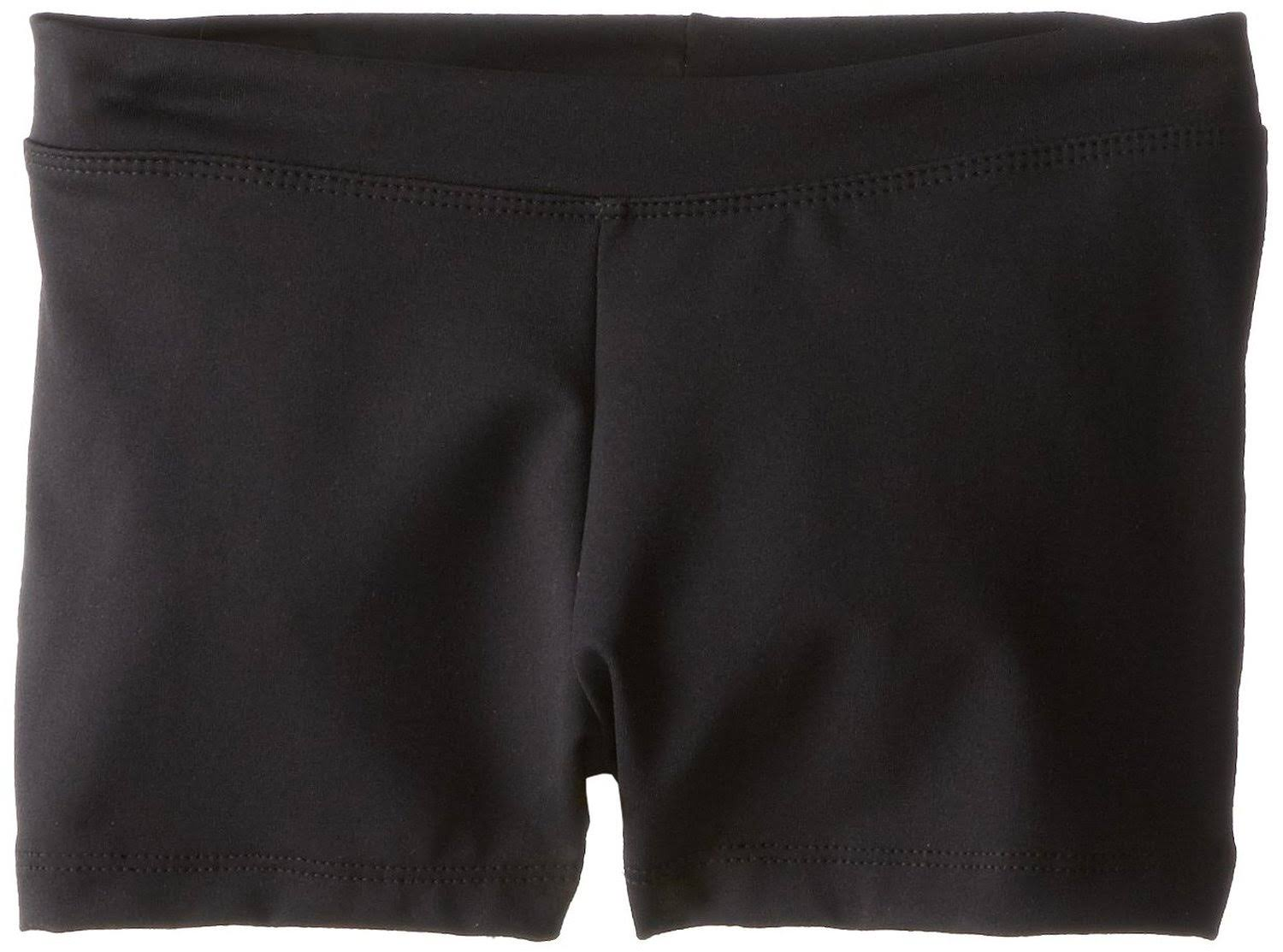 Capezio Girls' Boy Cut Low Rise Shorts - Black, Intermediate 6-8