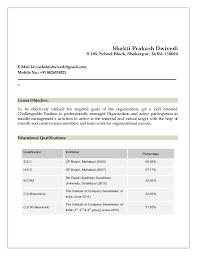 Resume Template For Company Secretary