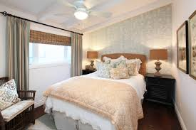 Cool Bedroom With Seagrass Headboard And Beige Cushion