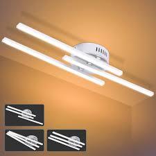 led deckenleuchte 21 w le lustre modernes deckenleuchten design mit parallelen streifen und 3 stück paralleler lichtleiste für das wohnzimmer