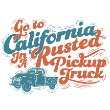 100 Pickup Truck Lyrics Go To California Print SOLD OUT Alice Maule Graphic Designer