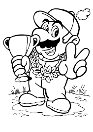 Dora Colouring Pages Free Printable Mario Coloring