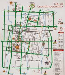 Tourist Information Yogyakarta City Map Tourism Maps Travel Guides