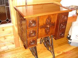 Koala Sewing Cabinets Australia by Custom Singer Sewing Table Antique And New Quarter Sawn Oak Youtube