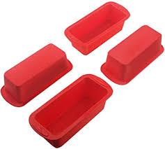 silivo silikon mini kastenform und brotbackform 4er set kastenform antihaftende mini silikon backform für kuchen und brote 14x6x5cm