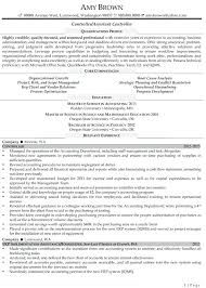 Sample Resume For Accountant Controller Example Assistant Cover Letter