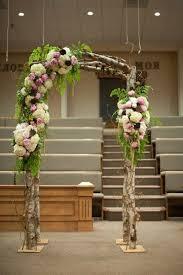 Indoor Wooden Arch Wedding