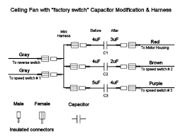 Hunter Ceiling Fan Wiring Diagram Red Wire by Ceiling Fan Capacitor Solutions Conscious Junkyard