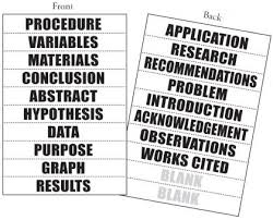 Science Fair Labels Templates