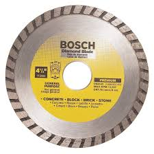 Husky Wet Tile Saw Blade by Bosch Db4542 Premium Plus 4 1 2 Inch Dry Cutting Turbo Continuous