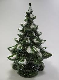 Vintage Retro Ceramic Light Up Tabletop Christmas Tree