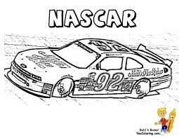 Cool And Opulent Racing Car Colouring Pages NASCAR Children Coloring Charger At YesColoring Race