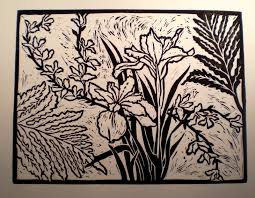 An Image Printed From The Linoleum Plate Above