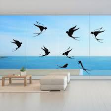 vogelschutz fensterbild aufkleber warnvögel schwalben wintergarten farbe schwarz matt größe 20 cm