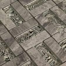 glass tile backsplash kitchen shell patterns glass