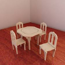 Table And Chairs For Barbie Vector Model For CNC Router And Etsy