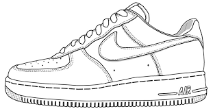 Nike Shoe Coloring Page