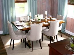 Small Space Modern Dining Room Ideas Using Curved Back Chair Set With Cool Table Centerpieces