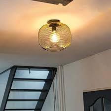 qazqa moderne schwarze deckenleuchte deckenle le leuchte bliss mesh wohnzimmer schlafzimmer küche stahl kugel kugelförmig