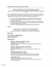 Sample Resume For Teachers Luxury Daycare Unique Examples Teacher