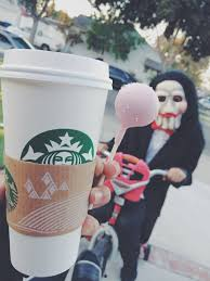 Starbucks Coffee Costume Cake Pop Jigsaw Saw