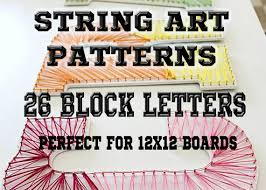 STRING ART Patterns 26 Block Capital Letters