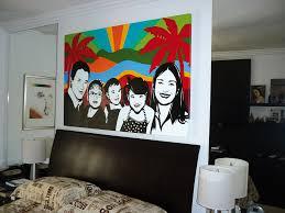 100 Pop Art Bedroom Happy Family Acrylic On Canvas 100X1